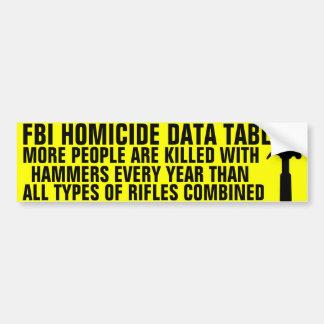 Hammers kill more people bumper sticker