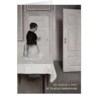 Hammershøi Ida reading a letter CC0696 Card