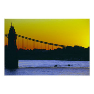 Hammersmith Bridge, London Poster
