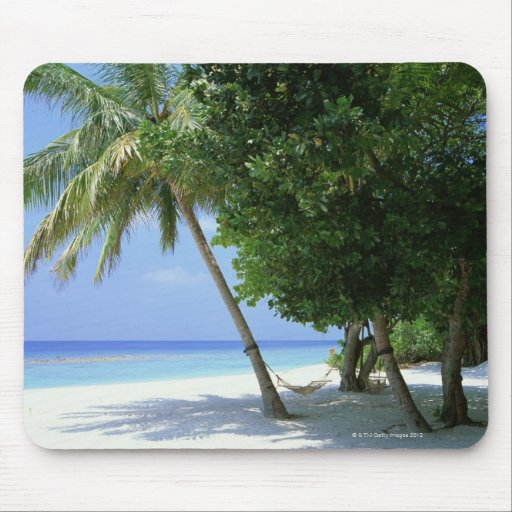 Hammock and Palm Tree Mouse Pad