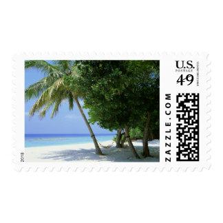 Hammock and Palm Tree Postage