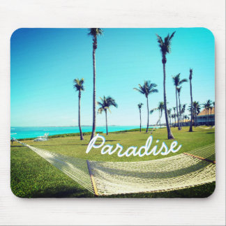 Hammock and Palm Trees Mouse Pad