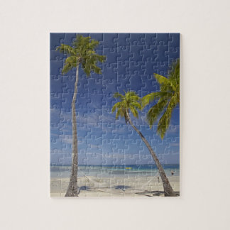 Hammock and palm trees, Plantation Island Resort Jigsaw Puzzle
