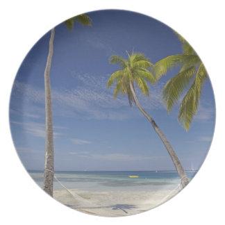 Hammock and palm trees, Plantation Island Resort Melamine Plate