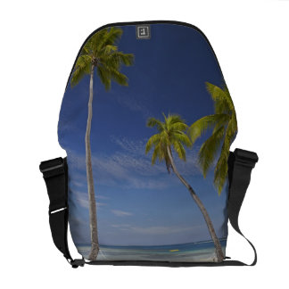 Hammock and palm trees, Plantation Island Resort Messenger Bag