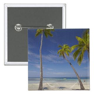Hammock and palm trees, Plantation Island Resort Pinback Button