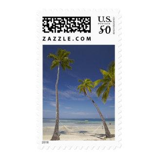 Hammock and palm trees, Plantation Island Resort Postage