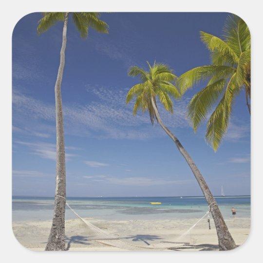 Hammock and palm trees, Plantation Island Resort Square Sticker
