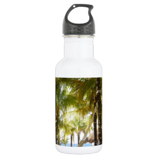 Hammock and Palm Trees Water Bottle
