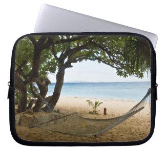 Hammock at South Sea Island, Fiji Laptop Sleeve