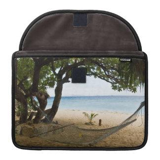 Hammock at South Sea Island, Fiji MacBook Pro Sleeve