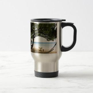 Hammock at South Sea Island, Fiji Travel Mug