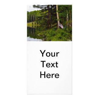 Hammock Mountain Lake Custom Photo Card