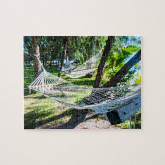 Hammock on the beach, Fiji Jigsaw Puzzle