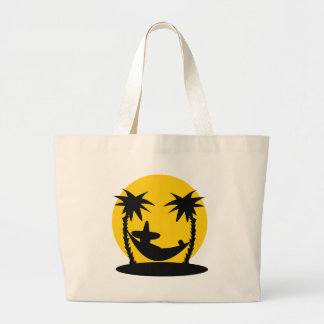 hammock palms sunset holiday icon large tote bag