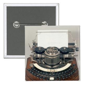 Hammond typewriter, with the ideal keyboard pinback button