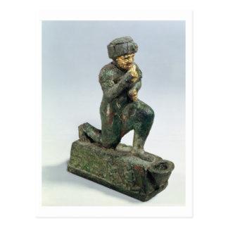 Hammurabi, king of Babylon, praying before a sacre Postcard