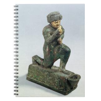 Hammurabi rey de Babilonia rogando antes de un s Cuaderno