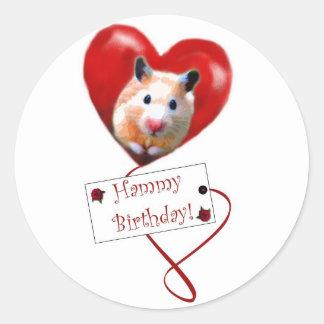Hammy Birthday Stickers