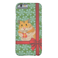 Hammy Christmas Hamster Christmas Barely There iPhone 6 Case
