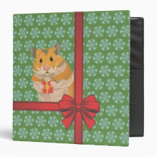Hammy Christmas Hamster Christmas Binder