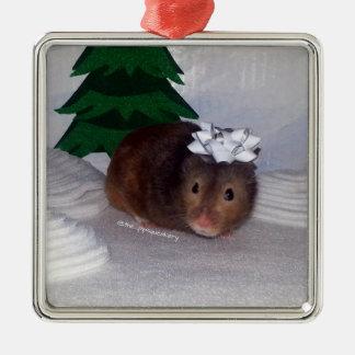 Hammy Christmas Metal Ornament