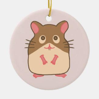 Hammy Hamster Ceramic Ornament