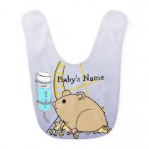 Hammy the Hamster Cute Baby Bib