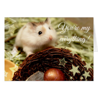 Hammyville - Cute Hamster and Nest Card