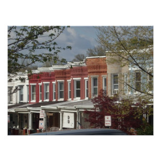 Hampden Rowhouse Photo on Canvas. Poster