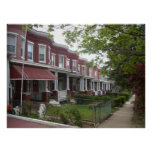 Hampden Rowhouses Poster