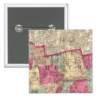 Hampshire & Hampden counties Pinback Buttons