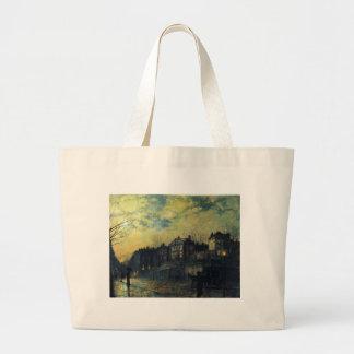 Hampstead by John Atkinson Grimshaw Large Tote Bag