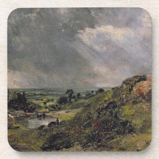 Hampstead Heath, Branch Hill Pond, 1828 Beverage Coaster
