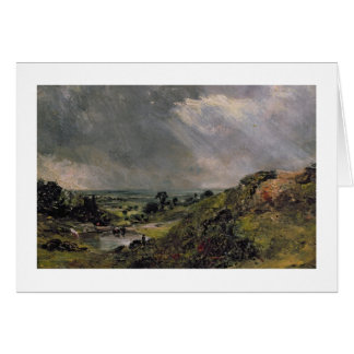 Hampstead Heath, Branch Hill Pond, 1828 Card