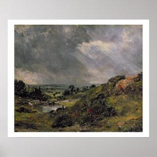 Hampstead Heath, Branch Hill Pond, 1828 Print