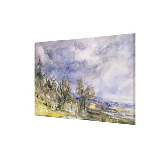 Hampstead Heath from near Well Walk, 1834 (w/c) Gallery Wrapped Canvas