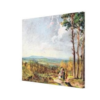 Hampstead Heath Looking Towards Harrow, 1821 (oil Stretched Canvas Print