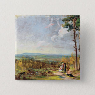 Hampstead Heath Looking Towards Harrow, 1821 (oil Pinback Button