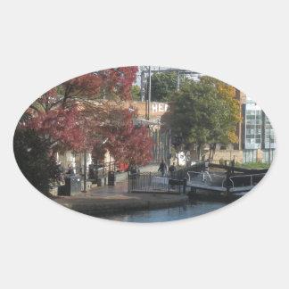 Hampstead Road lock Oval Sticker