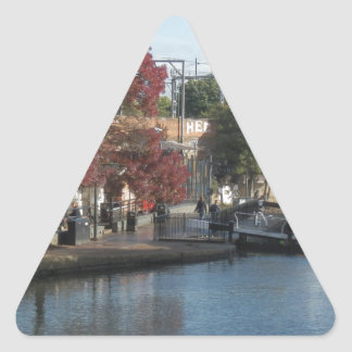 Hampstead Road lock Triangle Sticker