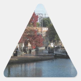 Hampstead Road lock Triangle Sticker