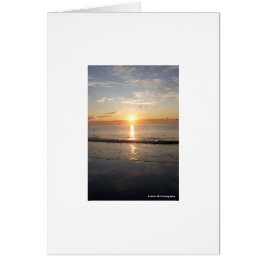 Hampton Beach at Sunrise Card