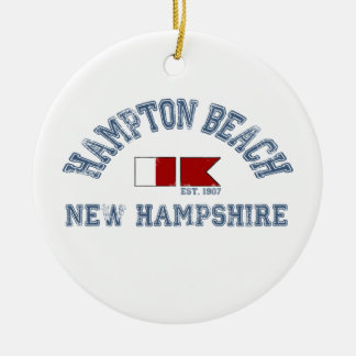 Hampton Beach - Nautical Design. Ceramic Ornament