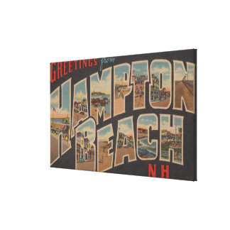 Hampton Beach, New Hampshire - Large Letter 2 Canvas Print
