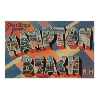 Hampton Beach, New Hampshire - Large Letter 2 Poster