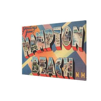 Hampton Beach, New Hampshire - Large Letter Canvas Print