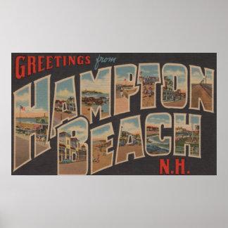Hampton Beach, New Hampshire - Large Letter Poster