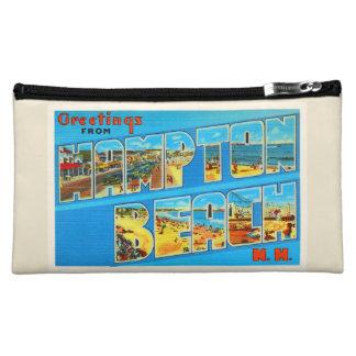 Hampton Beach New Hampshire NH Old Travel Souvenir Cosmetic Bag