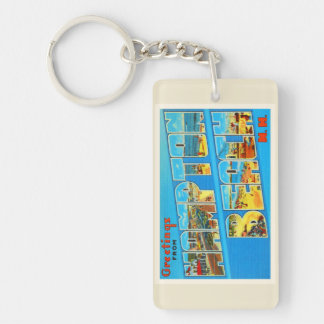 Hampton Beach New Hampshire NH Old Travel Souvenir Keychain